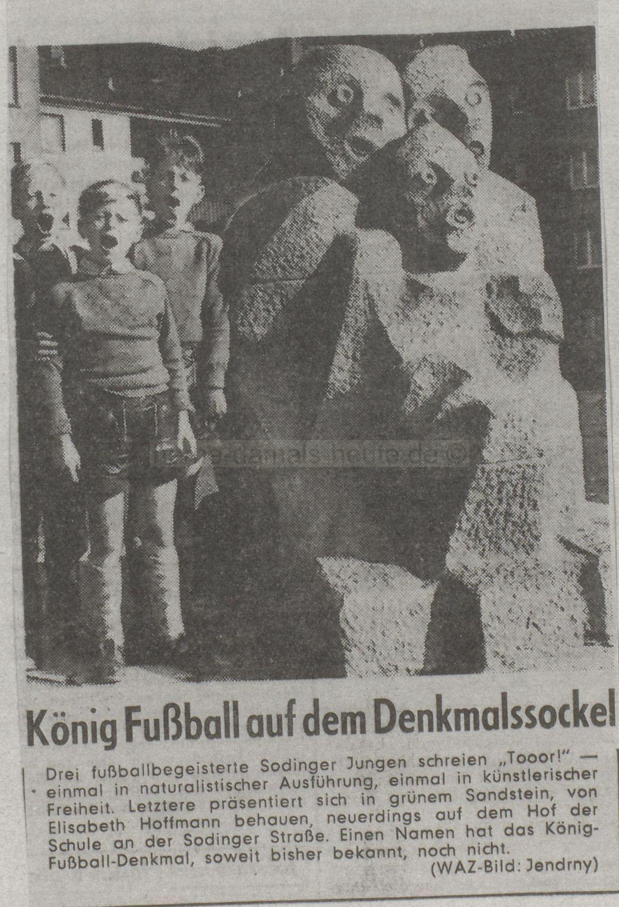 WAZ vom 03.10.1958, Repro Stadtarchiv Herne