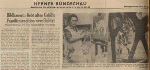 Westfälische Rundschau, Ausgabe Herne vom 20./21. Juli 1968, Repro Stadtarchiv Herne