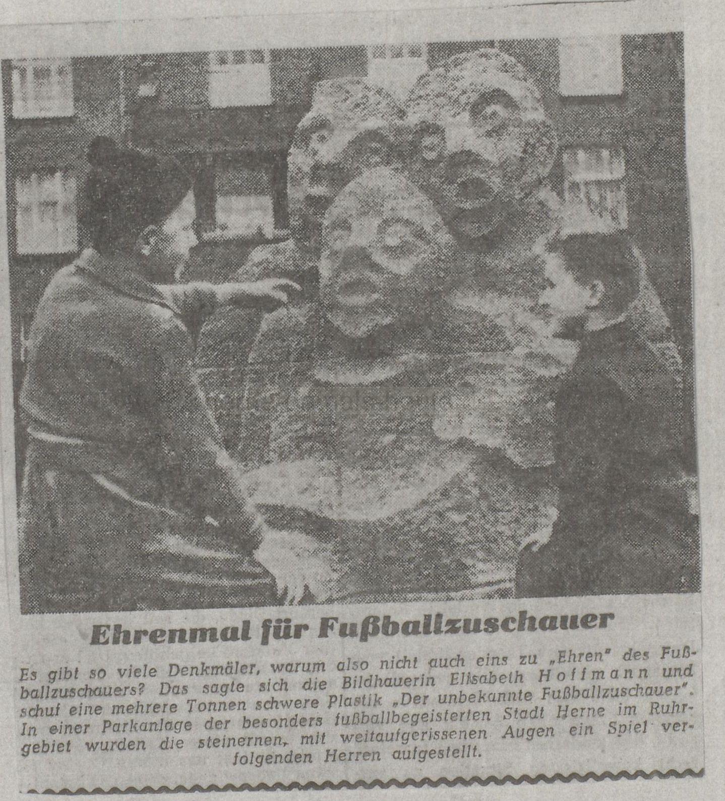 Westfälische Rundschau, Westfalenteil vom 24./25.01.1959, Repro Stadtarchiv Herne