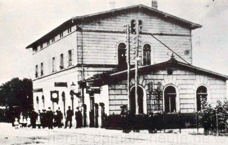 Bahnhof Herne-Bochum der Köln-Mindener-Eisenbahn, eröffnet am 15. Mai 1847, Repro Stadtarchiv Herne