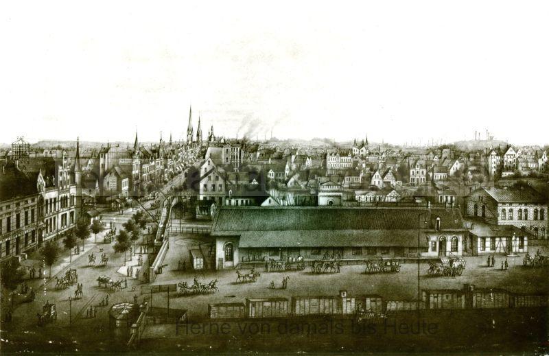 Die Bahnhofstraße anno dazumal, Repro Gerd Biedermann