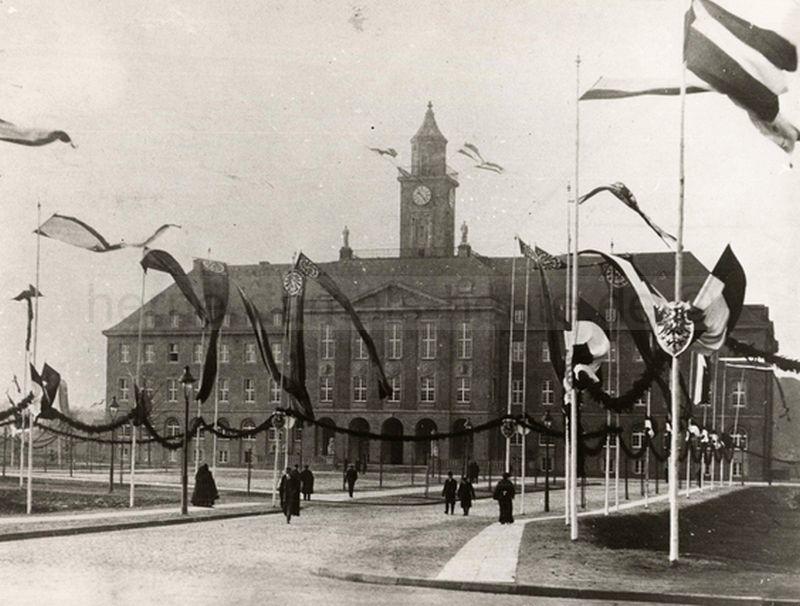 Einweihung des Herner Rathauses am 06.12.1912, Repro Stadtarchiv Herne