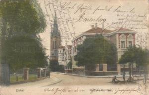 Postkarte mit Amtshaus Eickel, gelaufen 1906, Repro Stadtarchiv Herne