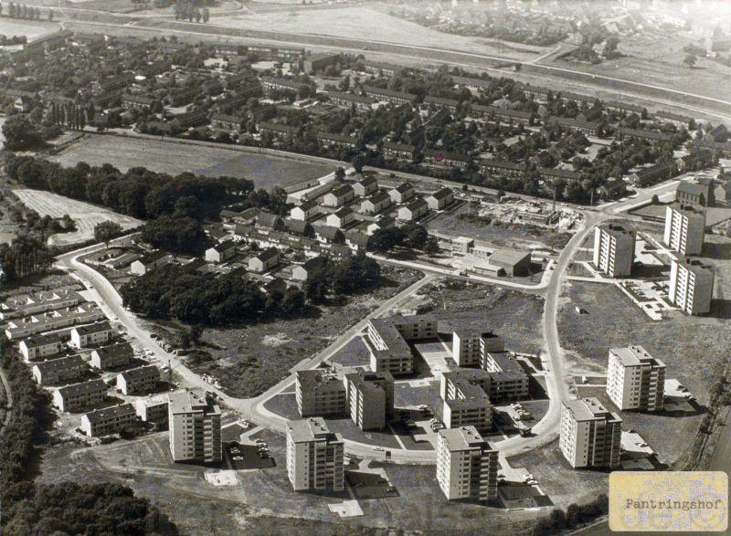 Die neu errichtetet Siedlung Pantrings Hof in den 1950er Jahren, Repro Stadtarchiv Herne